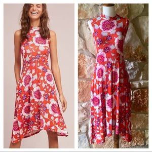 Anthropologie Maeve Red Cleary Dress